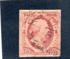 PAYS BAS 1852 O - Period 1852-1890 (Willem III)