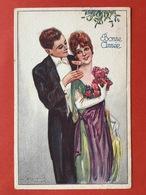 Illustrateur BOMPARD - COUPLEAVEC COUPE DE CHAMPAGNE - KOPPEL MET CHAMPAGNEGLAS - Bompard, S.