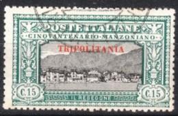 1924 Tripolitania - Manzoni C.15 - Usato - Tripolitania