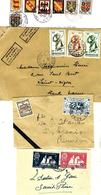 879 - FRANCE - 1920-1940 - FOUR COVERS - POSSIBLE FORGERIES, FALSES, FAUX FALSI - Timbres