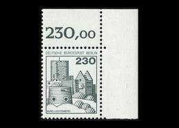Berlin 1977, Michel-Nr. 590, Freimarken: Burgen Und Schlösser, 230 Pf., Eckrand Oben Rechts, Postfrisch - [5] Berlijn