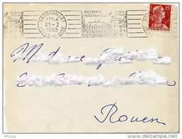 Ar474 RBV RAM207 Rambouillet Le Parc La Forêt Seine Et Oise 21/02/1959 - Marcophilie (Lettres)