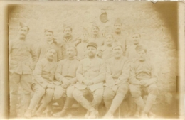 PHOTO GROUPE DE SOLDATS 9 X 6 CM - War, Military