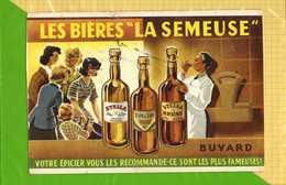 BUVARD & Blotting Paper :Biere LA SEMEUSE Votre Epicier La Recommande - Liquor & Beer