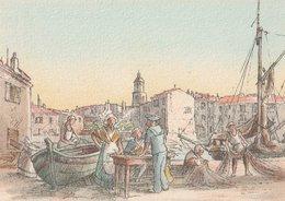 Barré & Dayez. Illustrateurs: Signé: P. Charlemagne. SAINT-TROPEZ (83). La Marchande De Coquillage (Marin). N°1471 S - Illustrateurs & Photographes