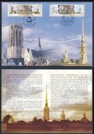 2003 Joint Issue Sheet / Gemeischaftsausgabe Belgique Mi 3219 /0 + Russia 1086 /7 -Belgium-Russia Diplomatic Relations - Gezamelijke Uitgaven
