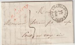 LAC Côte D'Or, Cursive Rouge Montigny , T13 Chatillon Sur Seine 1841 - 1801-1848: Précurseurs XIX