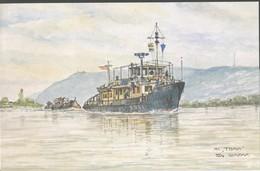 Schiff  Von   Tom Glazar   Donau-Schiffahrt  MS, Thaya - Zeichnungen