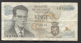 België Belgique Belgium 15 06 1964 -  20 Francs Atomium Baudouin. 3 Z  5331355 - [ 6] Treasury