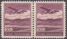 7/ Bohemia & Moravia; ** Nr. 0B, Pair - Bohemen En Moravïe