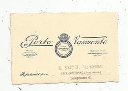 Carte De Visite, Porto VASMONTE , Rouen ,représentant Sivadier ,Chef Boutonne - Tarjetas De Visita