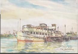 Schiff  Von   Tom Glazar   Donau-Schiffahrt  MS, Stadt Wien - Zeichnungen