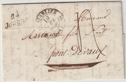 LAC Doubs, Cursive Jougne , T12 Pontarlier 1838 - 1801-1848: Précurseurs XIX