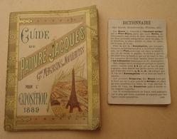 Paris -  Guide Du Pauvre Jacques Grands Magasins De Nouveautés Pour L'Exposition Universelle 1889 - - Paris