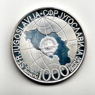 1000 DINARA , SILVER PROOF COIN ,TITO , YUGOSLAVIA - Yugoslavia