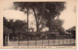 """CPA GUERNES - S&O  Hôtel Du Bac """"Au Bon Accueil"""" - Les Terrasses Sur La Seine - Other Municipalities"""