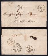 BIELLA - BIELLE - ITALIE / 1856 AMBULANTE TORINO GENOVA SUR LETTRE POUR NICE (ref 6216) - Sardaigne