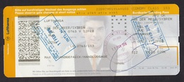 India: Ticket / Boarding Pass, 2016, Lufthansa, Cancel Customs, Immigration, Security (traces Of Use) - Instapkaart