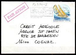 FL974-1 / Dept 974 (Réunion ) ST DENIS R,P, 1993 > FG Illustrée / SOS Alcool – SOS Drogue - Postmark Collection (Covers)