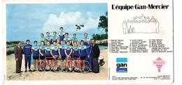 Carte EQUIPE GAN MERCIER (cyclisme)  Avec Joop Zoetemelk  Et Raymond Poulidor (PPP10649) - Cyclisme