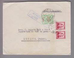 Spanien 1928-12-28 Jerez De La Frontera Zensurbrief Via Gibraltar Nach Zürich - Lettres & Documents