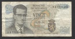 België Belgique Belgium 15 06 1964 -  20 Francs Atomium Baudouin. 3 Z  7784441 - [ 6] Schatzamt