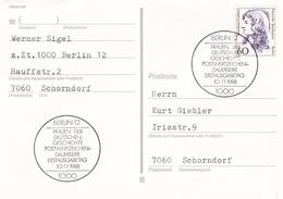 Berlin 1987 Maria Sibylla Merian Postcard Erstausgabetag - [5] Berlin