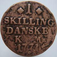 Denmark 1 Skilling 1771 VG / F - Denmark