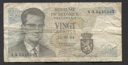 België Belgique Belgium 15 06 1964 -  20 Francs Atomium Baudouin. 4 A 2245587 - [ 6] Schatzamt