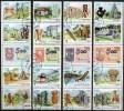 Maya-Kunst 1986 Kuba 3042/61 4xZD O 7€ Entdeckung Amerika Ss Stamp On Stamps 500 Year New America Se-tenant Bf Cuba - Variétés & Curiosités