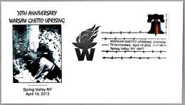 70th Anniversary WARSAW GHETTO UPRISING. Spring Valley NY 2013 - Judaísmo