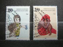 Childrens # United Nations UN Vienna Austria 1985 Used #Mi. 53/4 - Oblitérés