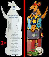 Marque-page Découpé : Allemagne - Kangourou - Der Sprung Ins Leseabenteuer Modèle N° 2 (auteurs Différents Au Verso) - Marque-Pages