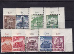 Deutsches Reich Mi.-Nr. 751-759 Bogeneckstück ** - Unused Stamps