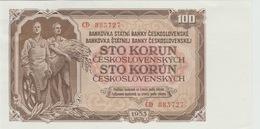100 COURONNES 1953 - Tchécoslovaquie