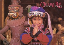 Postcard Chiang Rai Thailand Sawasdee Welcomes You Smiling Child My Ref  B23584 - Thailand
