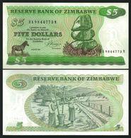ZIMBABWE - 5 Dollars {Harare - 1993} UNC P.2 C - Zimbabwe