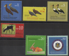 Sud-Soudan South Sudan Südsudan 2012 Faune Fauna Birds Oiseaux Vögel Coat Of Arms 9th  1, 2, 5, 10, 20, 50 SSP MNH ** - South Sudan