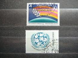 International Year Of Peace # United Nations UN Vienna Austria 1986 Used #Mi. 62/3 Birds - Oblitérés