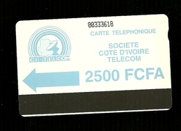 Carta Telefonica Costa D'Avorio - 2500 FCFA  -  Carte Telefoniche@Scheda@Schede@Phonecards@Telecarte@Telefonkarte - Costa D'Avorio