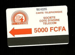 Carta Telefonica Costa D'Avorio - 5000 FCFA  -  Carte Telefoniche@Scheda@Schede@Phonecards@Telecarte@Telefonkarte - Costa D'Avorio