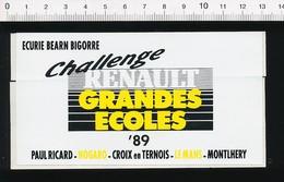 Autocollant Sticker Publicité Ecurie Béarn Bigorre Challenge Renault Paul Ricard Nogaro Croix-en-Ternois Le Mans 21ADH16 - Autocollants