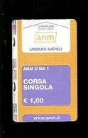 Biglietto Autobus Italia - ANM Napoli - Urbano Da 1.00 Euro - Autobus