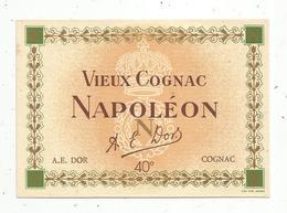 étiquette De Vin , VIEUX COGNAC NAPOLEON ,  A.E. DOR ,  Cognac - Etiquettes