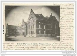 BRAINE - LE - COMTE ..-- DVD 7301 . Ecole Moyenne .1901 Vers GAND ( Melle Marguerite BRICUSSE ) . Voir Verso . - Braine-le-Comte