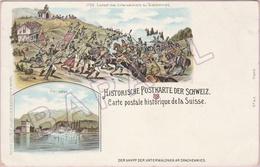 Suisse - Carte Postale Historique - Der Kampf Der Unterwaldner Am Drachenried (Recto-Verso) - Suisse