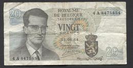 België Belgique Belgium 15 06 1964 -  20 Francs Atomium Baudouin. 4 A  8475854 - [ 6] Schatzamt