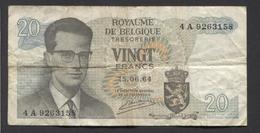België Belgique Belgium 15 06 1964 -  20 Francs Atomium Baudouin. 4 A  9263158 - [ 6] Treasury