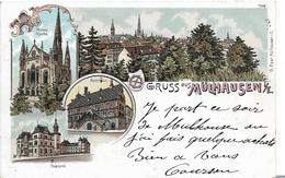 Gruss Aus MÜLHAUSEN - Multivues  ( Pionnière 1899) - Mulhouse