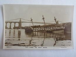 Pays De Galles H M S Conway And Menai Bridge - Merionethshire